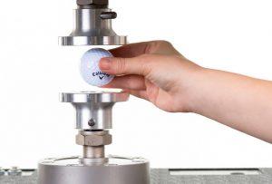 Prescott Instruments Dynamic Mechanical Analysis DMA Golf Ball Close Up