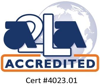A2LA accredited symbol